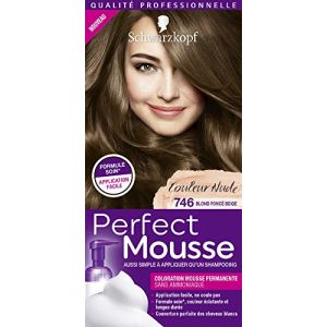 Schwarzkopf Perfect Mousse - Coloration Blond Foncé Beige 746