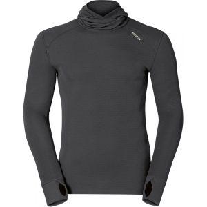 Odlo Shirt ML WARM ACTIVE capuche Originals T-shirt manches longues homme Homme black FR: L (Taille Fabricant: L)