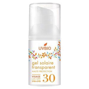 UVbio Gel solaire SPF30 Transparent Visage
