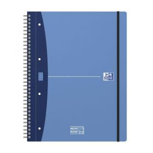 Oxford 400011307 - Cahier Urban Mix rel. intégrale Movebook A4+ 160p./80 feuilles 90g/m², ligné 7mm + marge