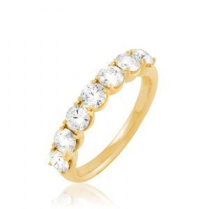 Histoire d'Or Demi-alliance Or Jaune Eloise Diamants