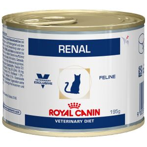 Royal Canin Veterinary Diet Chat Renal - 12 boites de 195 g