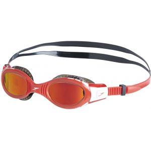 Speedo Futura Biofuse Flexiseal Mirror - Lunettes de natation Enfant - rouge/noir Lunettes de natation