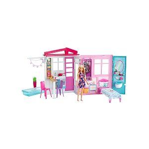 Mattel Poupée Barbie - Maison à emporter et Poupée - FXG55