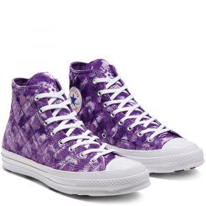 Converse X GOLF le FLEUR* Chuck 70 Velvet High Top Tillandsia Purple 39