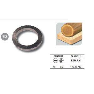 Leman 129.40.712 - 1 Rouleau de 50 mètres Lame scie à ruban en acier C75 40x0,7 pas de 12
