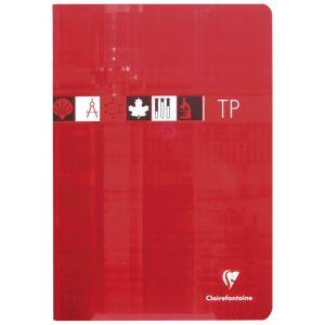 Clairefontaine 3168C - Cahier Travaux Pratiques Metric 210x297, 80p./40 feuilles 90 g/m² / 125 g/m² piquées, quadrillé 5x5 / uni