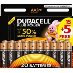 Duracell Pile Plus Power AA 15+5