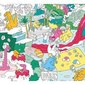 Omy Poster géant à colorier : Dinosaure