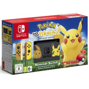 Nintendo Console Switch + Pokemon : Let's Go, Pikachu ! Préinstallé + Poké Ball Plus Ed Pikachu et Evoli