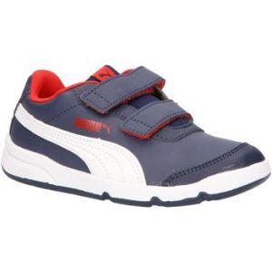 Puma Chaussure Basket Stepfleex 2 SL VE V Kids pour Enfant, Bleu/Rouge/Blanc, Taille 35