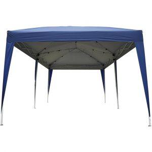 Outsunny Tonnelle barnum tente de réception pliante 3 x 6 m bleu