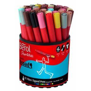 Berol 300739 - Pot de 42 feutres Colourbroad pointe moyenne