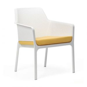 Nardi Coussin d'assise pour fauteuil de jardin NET RELAX 57x52 par - Jaune - Extérieur - Fermeture Zip