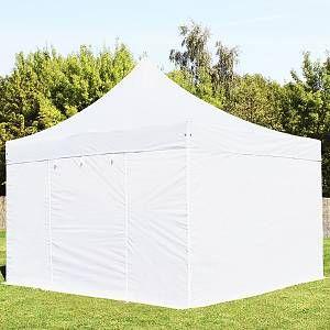 Intent24 Tente pliante 4x4 m sans fenêtre blanc PROFESSIONAL tente pliable ALU pavillon barnum.FR