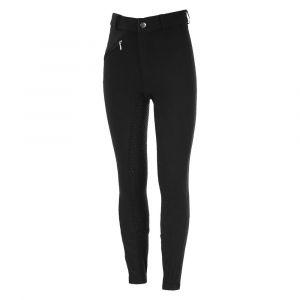 """Horze Pantalon d""""équitation Active, fond peau silicone, enfants - Noir - Taille 150"""