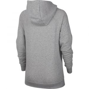 Nike W NSW ESSNTL Hoodie PO FLC Sweat-Shirt Femme, DK Grey Heather/White, FR : L (Taille Fabricant : L)