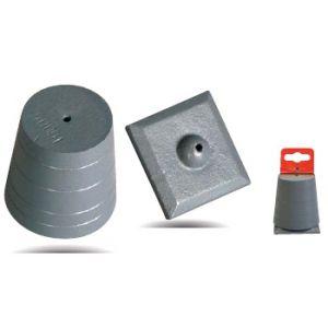Taliaplast 420401 - Plomb de maçon en fonte 500 g avec plaque ajustée sans cordon