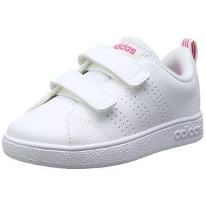 Adidas VS ADV CL CMF Inf, Pantoufles Mixte Bébé, Blanc (White 000), 19 EU