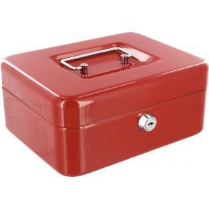Decayeux Coffret à monnaie métallique Rouge Dimensions 200 mm x 88 mm x 160 mm