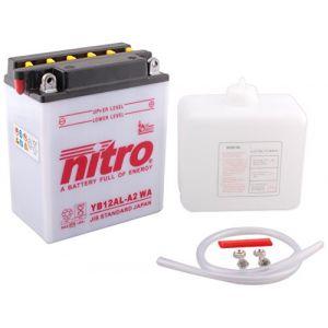 Nitro Batterie YB12AL-A2 ouvert avec pack acide Type Acide