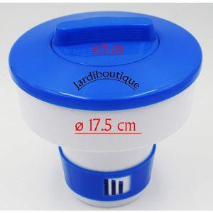 Jardiboutique Grand doseur diffuseur de Chlore ou Brome Flottant en Plastique 17.5 CM pour Galet