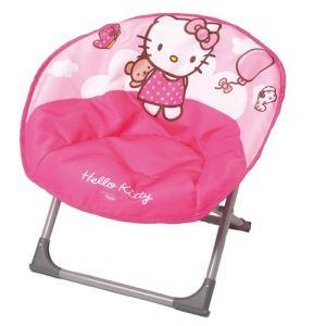 Fun House Siège enfant forme lune Hello Kitty en tissu