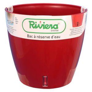 Riviera Pot plastique à réserve d'eau Diam.30 x H.27.5 cm rouge