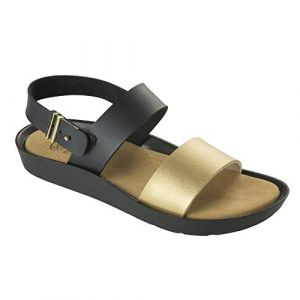 Scholl Mamore Black Gold Synthetic Leather 38