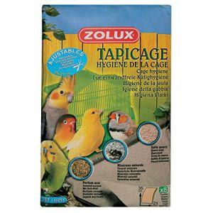Zolux Feuilles sablées pour fond de cage pour oiseaux petit modèle