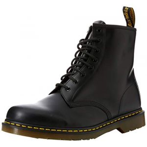 Dr. Martens 1460, Boots mixte adulte, Marron(Noir Black Smooth), 45 EU