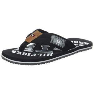 Tommy Hilfiger Essential Th Beach Sandal, Tongs Homme, Noir (Black 990), 47 EU
