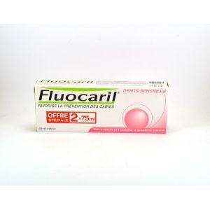 Fluocaril Dentifrice Bi-Fluoré dents sensibles (Lot de 2 x 75ml)