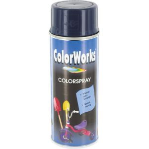 colorworks peinture a rosol brillante bleu fonc 400 ml comparer avec. Black Bedroom Furniture Sets. Home Design Ideas