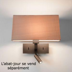 Astro Applique abat-jour rectangulaire Park Lane Reader LED - Interrupteur - Bronze - Bronze