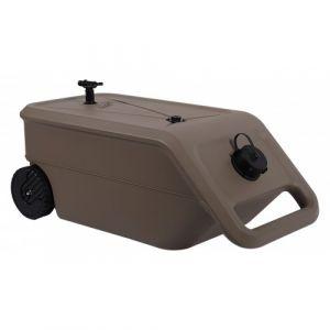 Eda Plastiques Citerne d'eau Nomade sur roues avec sortie pour tuyau d'arrosage - 55 L PLASTIQUE
