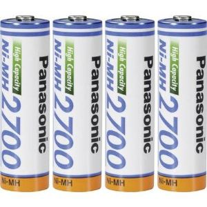 Panasonic BK-3HGAE/4BE - Accus R6 (AA) NiMH 1.2 V 2700 mAh 4 pc(s)