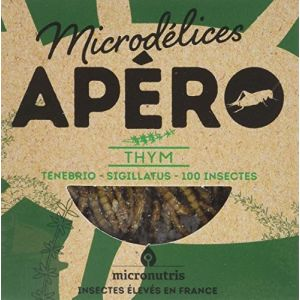 Micronutris Apéro Thym aux ténébrions et aux grillons bio & naturellement sans gluten