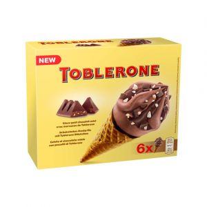 Toblerone Cônes glace au cacao miel & morceaux de chocolat au lait