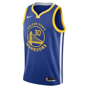 Nike Maillot connecté NBA Stephen Curry Icon Edition Swingman (Golden State Warriors) Homme - Bleu - Taille L - Male