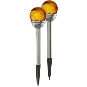 2 Balises solaire décorative ambrée PATH LIGHT - STAR