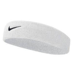 Nike Bandeau Swoosh Blanc/Noir taille One Size