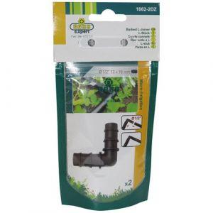 Raco Expert Micro coude cannelé pour tuyau 16mm - lot de 2 - Arroseur, Asperseur