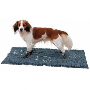 Trixie Tapis absorbant anti-saletés et rembourré - 80x55 cm - Gris - Pour chien