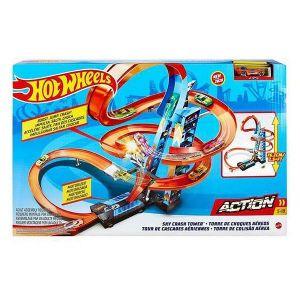 Mattel Hot Wheels - Coffret Altitude Crash - Circuit Petite voiture