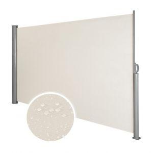 Auvent store latéral brise-vue abri soleil aluminium rétractable 200 x 300 cm beige