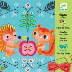 Djeco Cartes à lacer : Les petits copains
