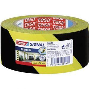 Tesa 58130-00000-00 - Ruban adhésif premium de signalisation et d'avertissement, jaune/noir