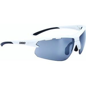 Lunettes Impulse Blanc brillant + Verre PC Smoke Flash Mirror 5207