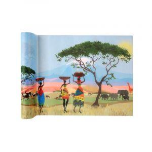 Santex Chemin De Table Polyester Wax Multicolore 5 m